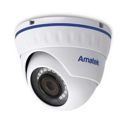 AC-IDV202M (2.8)(POE) AMATEK Видеокамера IP, купол 2Мп,ИК,ванд,микрофон