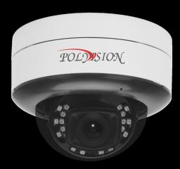 PDL-IP5-Z5MPAL v.5.8.9 PolyVision Видеокамера IP, купол Uni, 5Мп,а/ванд,PoE