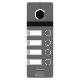 PVP-L9-4HD v.8.1 PolyVision Видеопанель AHD, 4 абонента