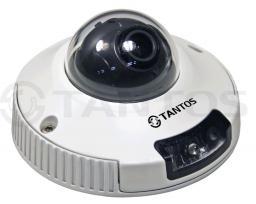 TSi-DVm211F (3,6) Tantos Видеокамера IP, купол 2Мп,,д/н,ИК,антив