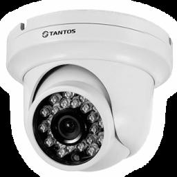 TSc-EB720pAHDf (3.6) Tantos Видеокамера цв, купол AHD,1Мп, ИК,а/в